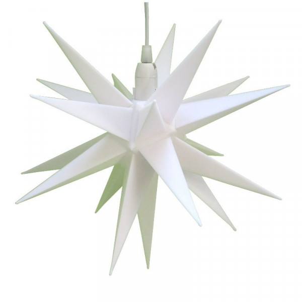 CEPEWA Kunststoffstern 35 cm Weiß