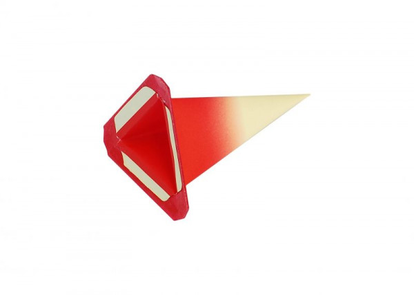 Einzelzacke I4 - Dreieck gelb/ roter Kern