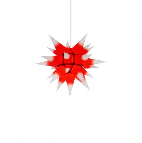 Herrnhuter Adventsstern I4, 40 cm Weiß mit rotem Kern