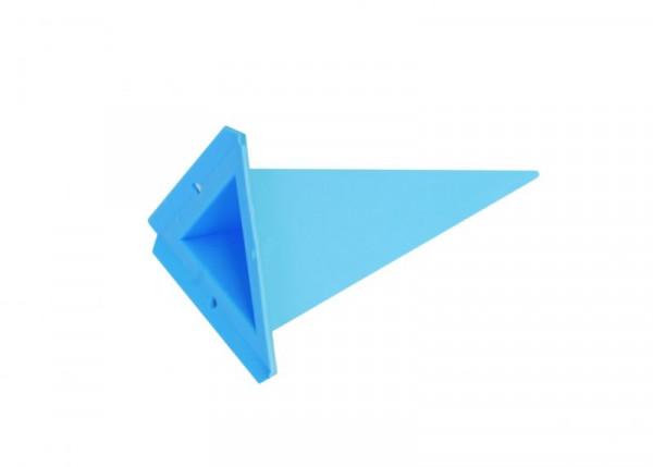 Einzelzacke A4 - Dreieck, blau