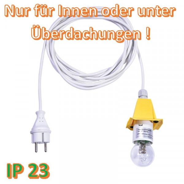 Weißes Anschlußkabel für Herrnhuter Außenstern A4/ A7 Gelb