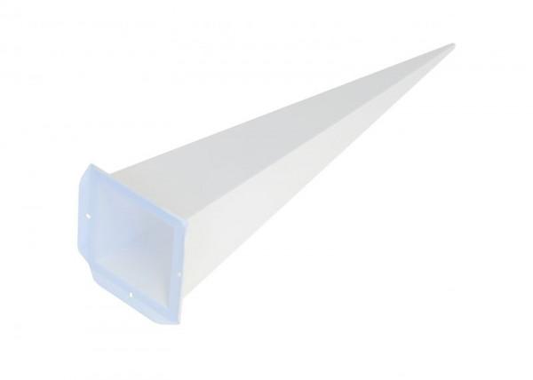 Einzelzacke A7 - Viereck, weiß