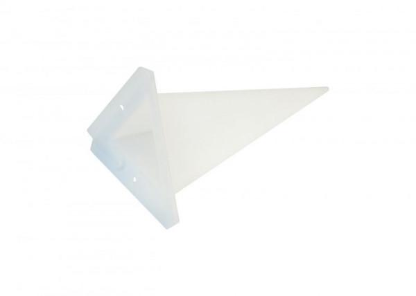 Einzelzacke A4 - Dreieck, opal