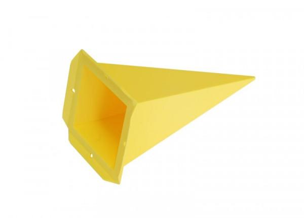 Einzelzacke A4 - Viereck, gelb