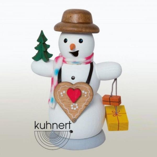 Räucherfigur Schneemann mit Lebkuchenherz