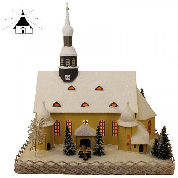 Erzgebirgisches Lichterhaus Crottendorfer Kirche.