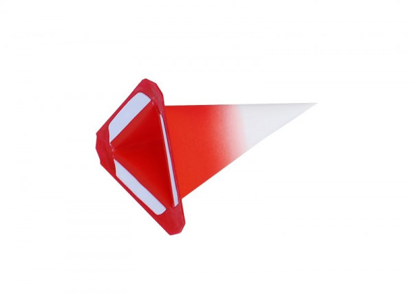Einzelzacke I4 - Dreieck weiß/ roter Kern