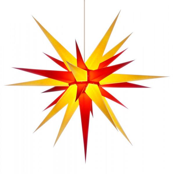 Herrnhuter Adventsstern I8, 80 cm Gelb-Rot