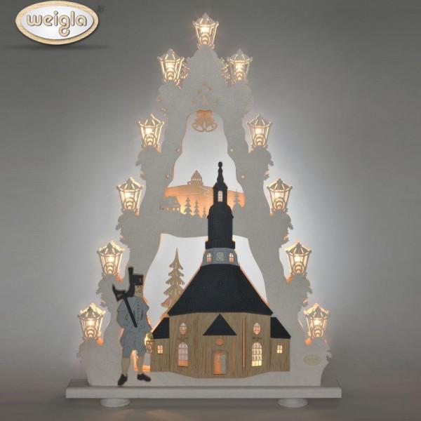 """Lichterspitze 15 flammig """"Seiffener Kirche"""""""