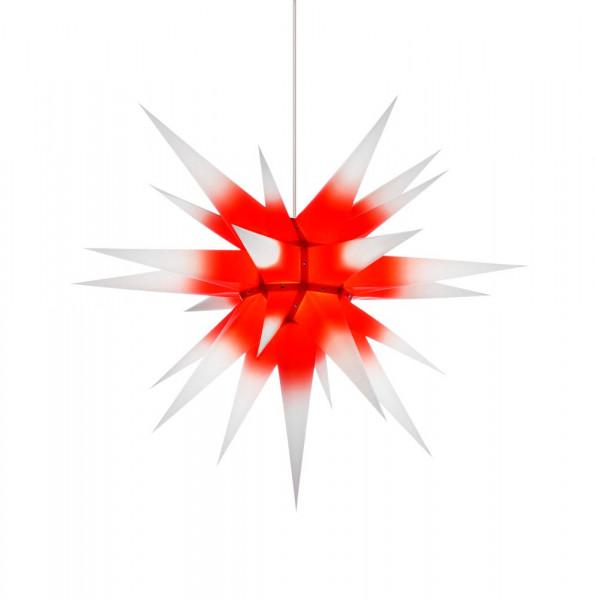 Herrnhuter Adventsstern I7, 70 cm Weiß mit rotem Kern