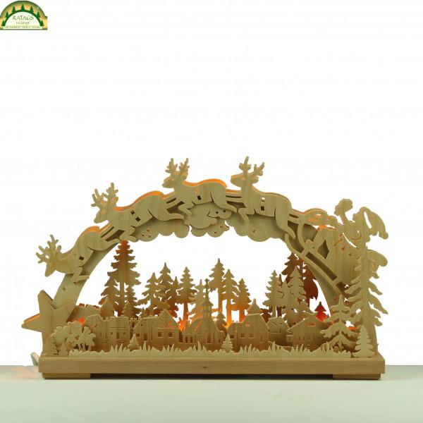 3D-Schwibbogen klein, Santa Claus