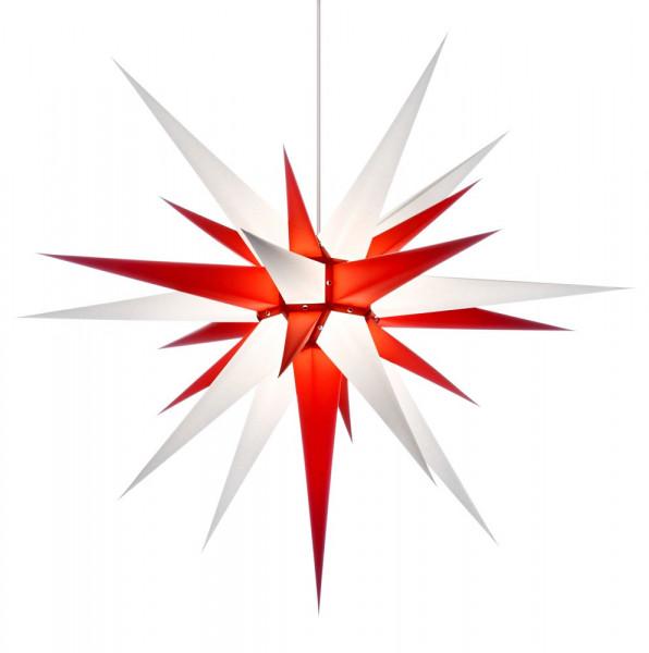 Herrnhuter Adventsstern I8, 80 cm Weiß-Rot