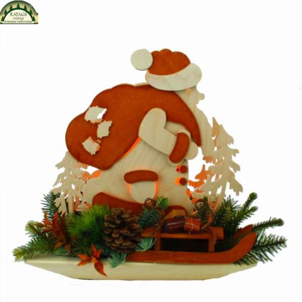 Raumleuchte, Weihnachtsmann in Schale