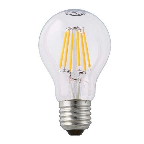 """LED-Tropfenlampe E27, 7Watt (entspr.60 W Glühl.), klar 300 ° Abstrahl-Winkel durch """"Glühfaden-Technik"""""""