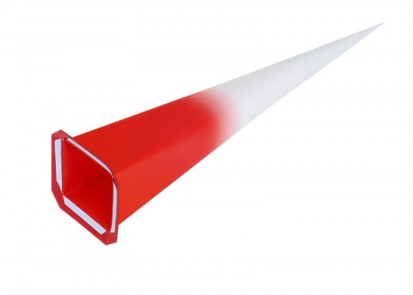 Einzelzacke I8 - Viereck, weiß/ roter Kern