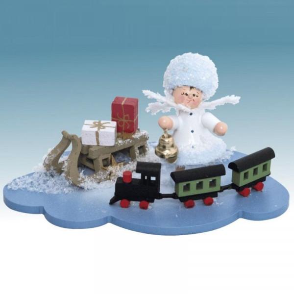 Schneeflöckchen mit Eisenbahn, Artikel 43340 Sammelfigur, ca. 100 x 70 x 60 mm