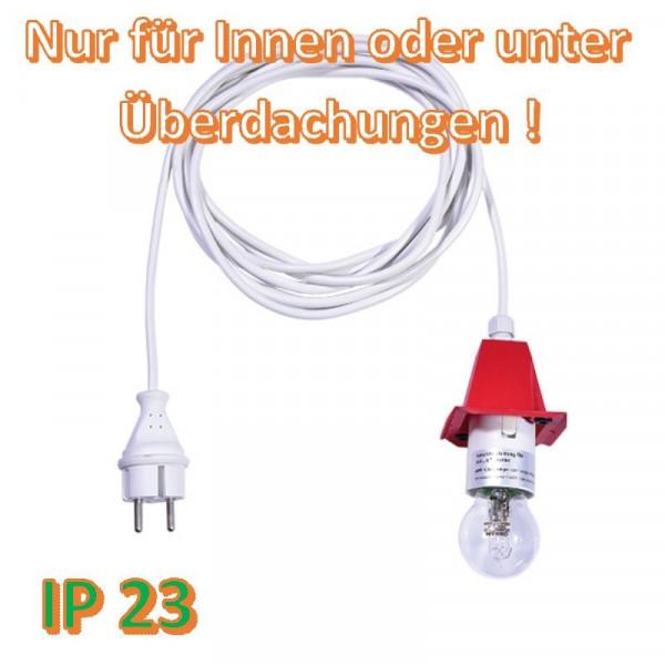 Weißes Anschlußkabel für Herrnhuter Außenstern A4/ A7 Rot