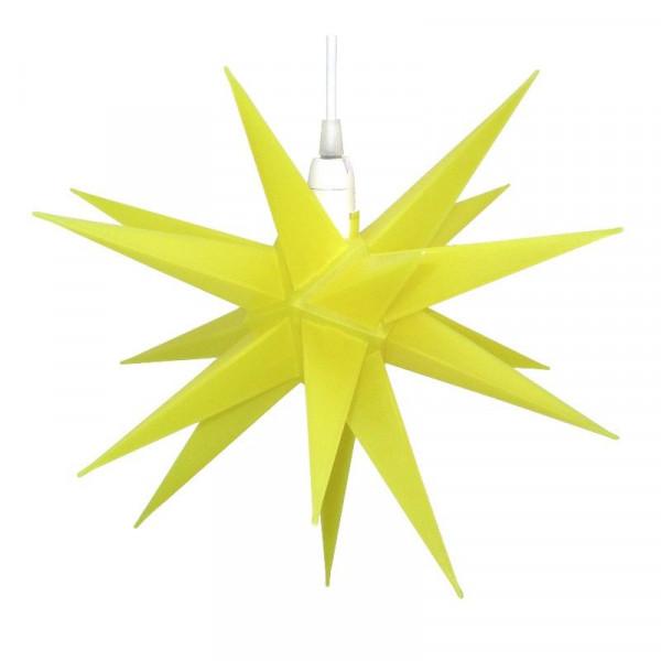 CEPEWA Kunststoffstern 35 cm Gelb