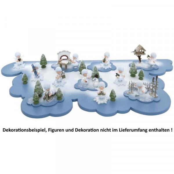Wolke groß für Schneeflöckchen, Artikel 43500 ca. 580 x 280 mm (ohne Schneeflöckchen u. Deko)