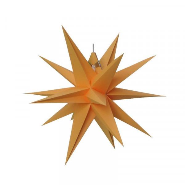 Annaberger Faltstern Nr. 3 (35 cm) orange Original Erzgebirgischer Faltstern aus Annaberg-Buchholz