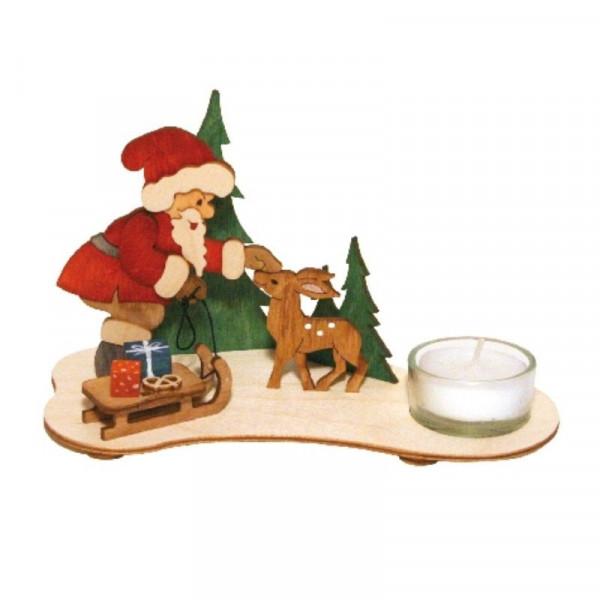 Bastelset Teelichthalter Weihnachtsmann