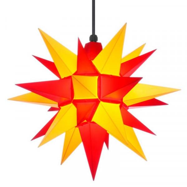 Herrnhuter Adventsstern Außenstern 40 cm Gelb-Rot Kunststoffstern für Außen- und Innenbereich geeignet