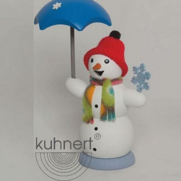 Räucherfigur Schneemann mit Schirm