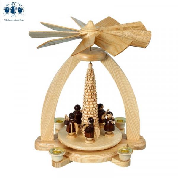 Tischpyramide Engel braun mit Spanbaum