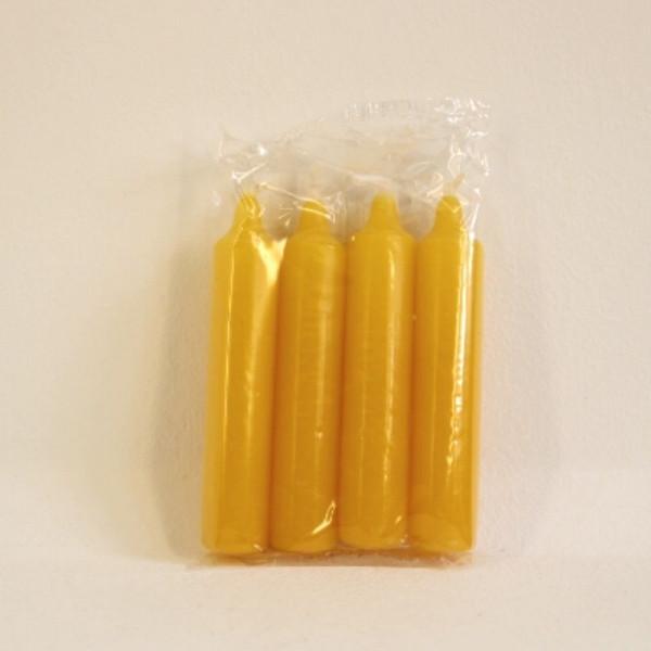 4 Baumkerzen 4-18/500 gelb Größe ca. 20,5 x 105 mm