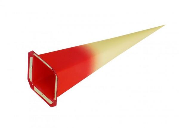 Einzelzacke I6 - Viereck, gelb/ roter Kern