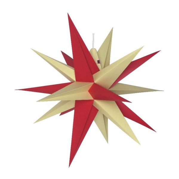 Annaberger Faltstern Nr. 5 (58 cm) rote+ gelbe Spitzen Original Erzgebirgischer Faltstern aus Annaberg-Buchholz