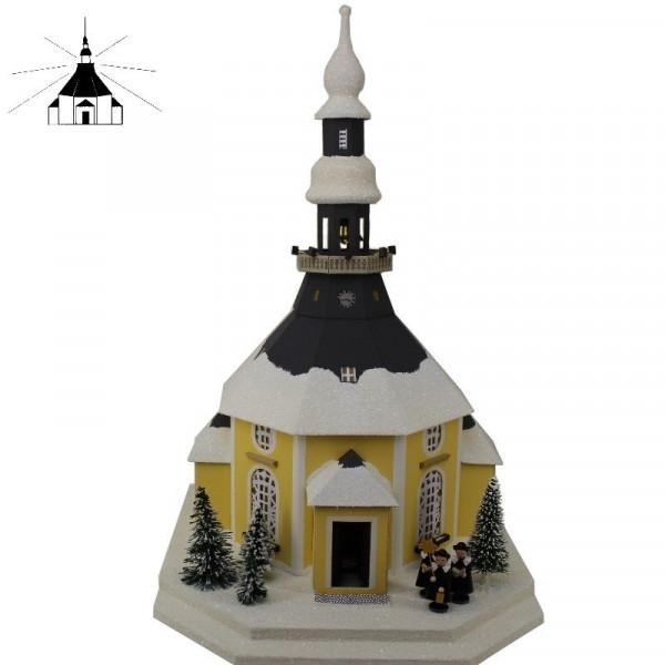 Erzgebirgisches Lichterhaus Seiffener Kirche m.Kurrende u.Weihnachtsbaum Echte Handarbeit aus dem Erzgebirge !