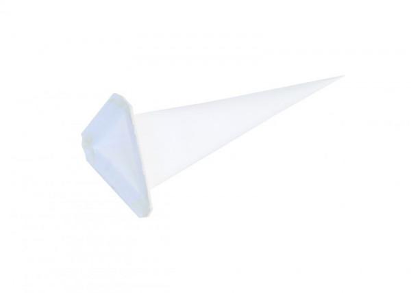 Einzelzacke I6 - Dreieck weiß