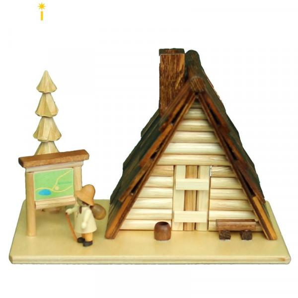 Saico Rauchhaus Schutzhütte mit Wanderkarte