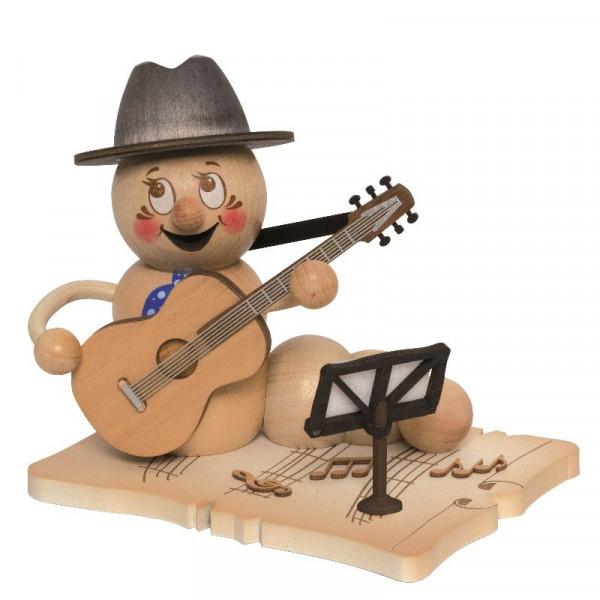 Erzgebirgische Räucherfigur Gitarrenwurm Rudi, Artikel 37027