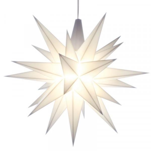 Herrnhuter Adventsstern Kunststoff 13 cm Weiß mit LED !