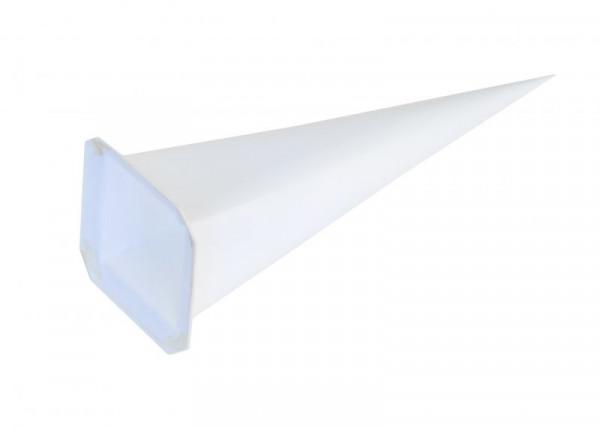 Einzelzacke I6 - Viereck, weiß