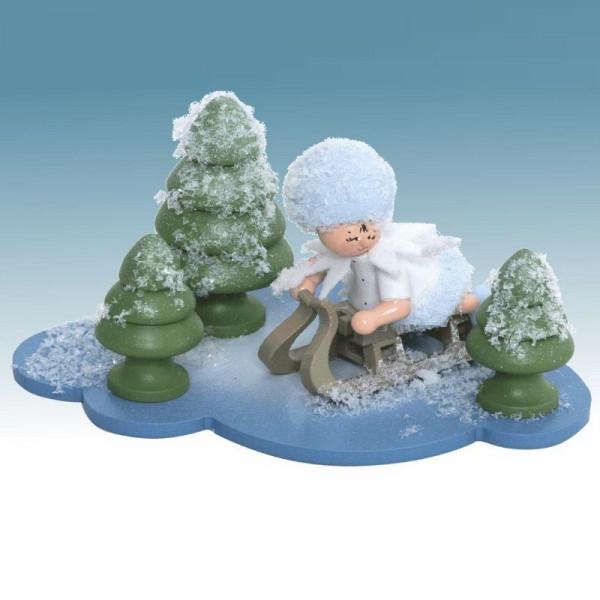 Schneeflöckchen mit Schlitten, Artikel 43335 Sammelfigur, Maße ca. 100 x 70 x 60 mm
