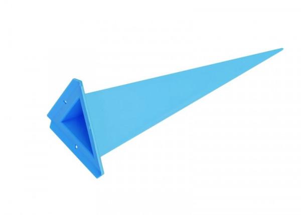 Einzelzacke A7 - Dreieck, blau