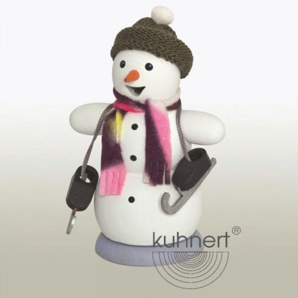 Räucherfigur Schneemann mit Schlittschuhen