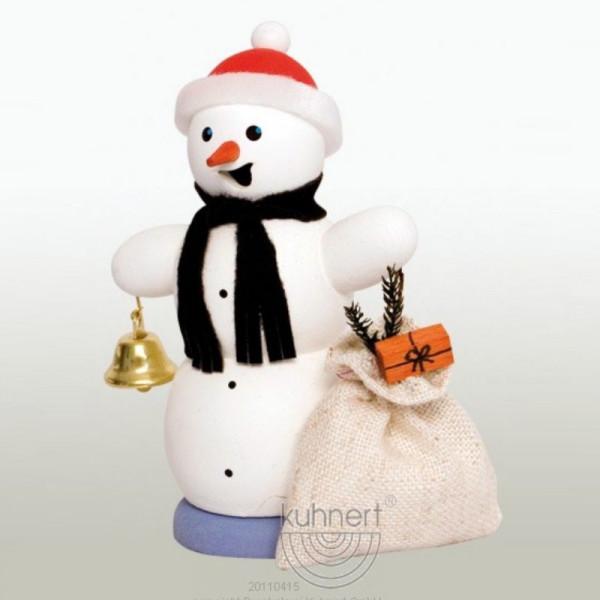 Räucherfigur Schneemann mit Geschenkesack