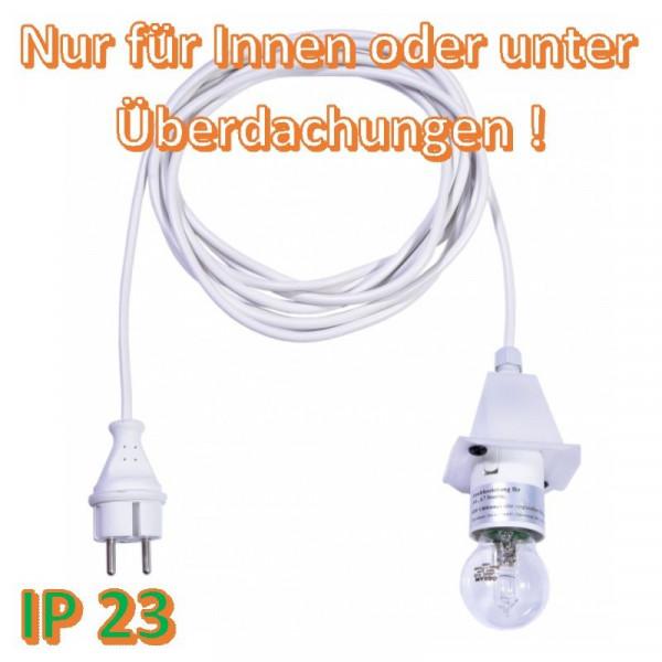 Weißes Anschlußkabel für Herrnhuter Außenstern A4/ A7 Opal