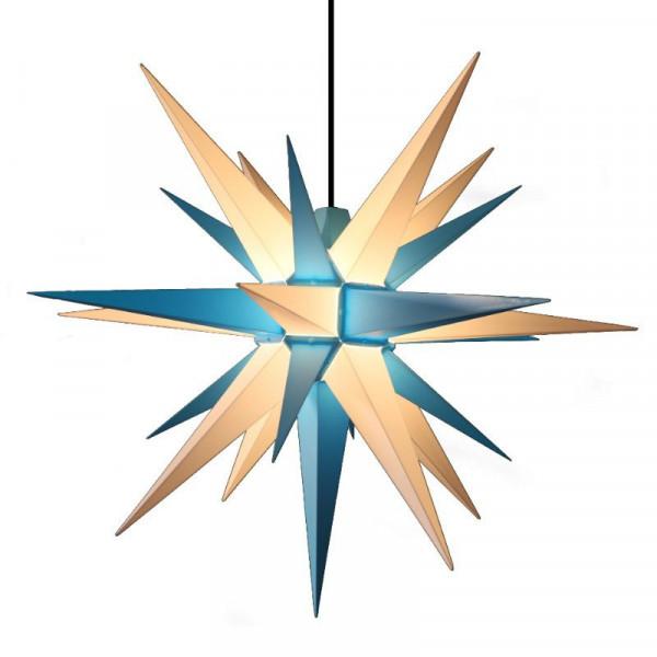 Herrnhuter Adventsstern Außenstern 68 cm Blau-Weiß