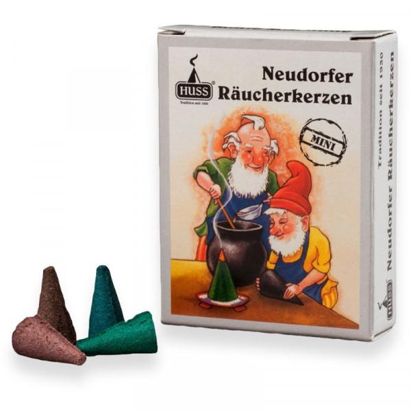 Original Neudorfer Räucherkerzen Bunte Mischung Größe Mini Original Erzgebirgische Räucherkerzen der Firma Huss