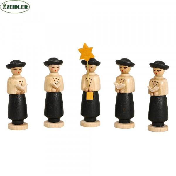 Kurrendefiguren 5teilig schwarz
