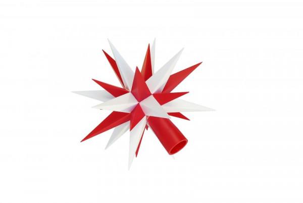 Ersatzstern für Herrnhuter Sternenkette A1s in Weiß-Rot