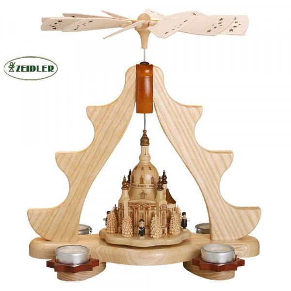 Teelichtpyramide Dresdner Frauenkirche,Sänger und Bäumchen