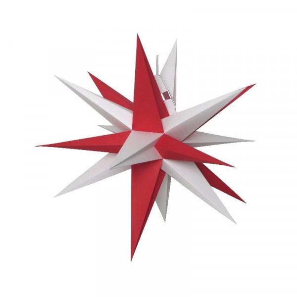 Annaberger Faltstern Nr. 3 ( 35 cm) rote+ weiße Spitzen Original Erzgebirgischer Faltstern aus Annaberg- Buchholz